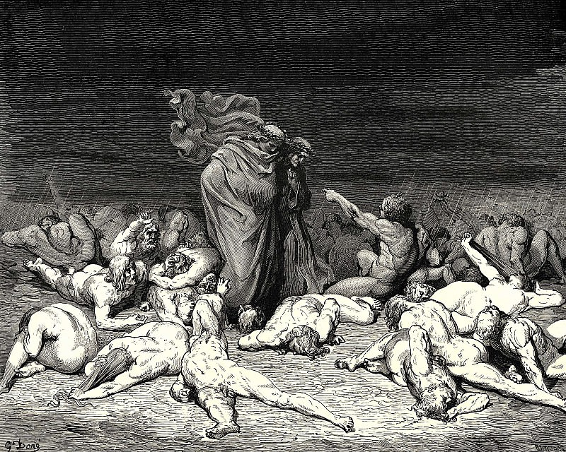 Thy city heap-d with envy to the brim held me in brighter days. Gustave Dore