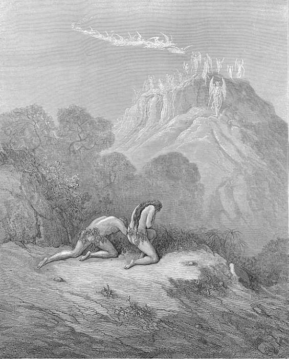 The heavenly bands Down from a sky of jasper lighted now In Paradise. Gustave Dore