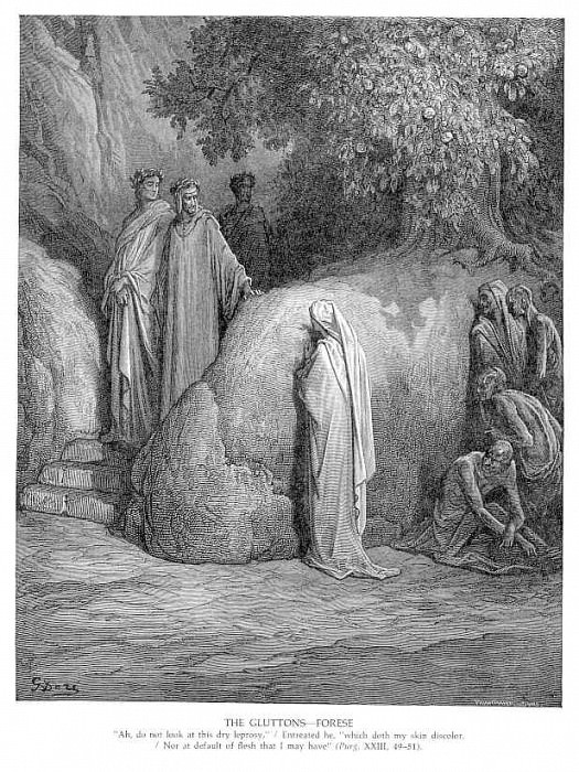The Gluttons Forese. Gustave Dore