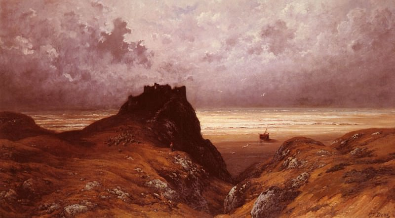 Castle On The Isle Of Skye. Gustave Dore