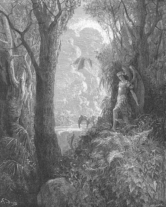 A happy rural seat of various view. Gustave Dore