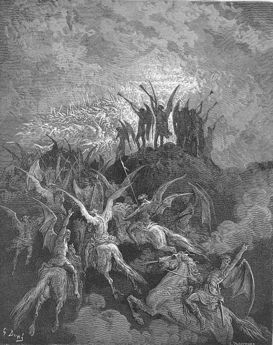 Their summons called From every band and squared regiment By place or choice the worthies. Gustave Dore