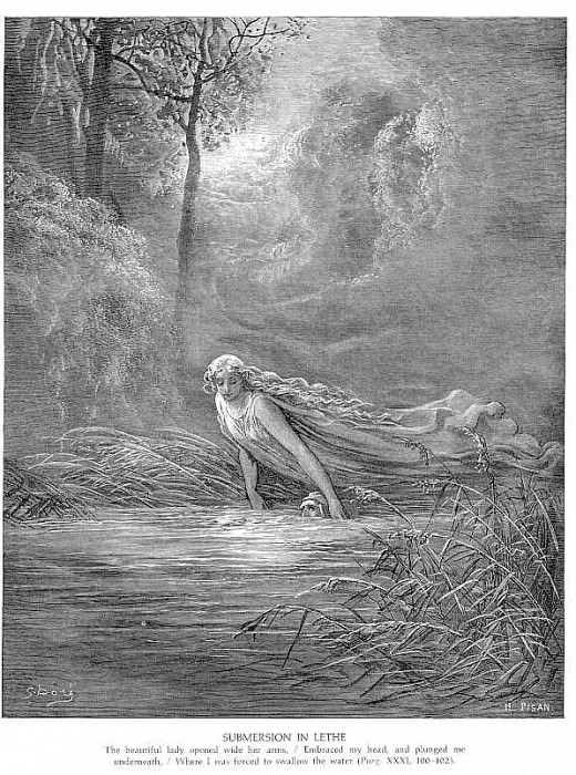 Submersion in Lethe. Gustave Dore