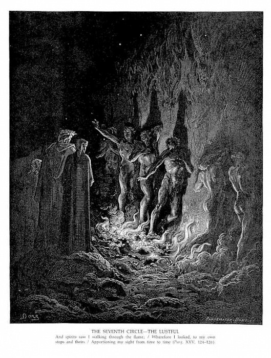 The Seventh Circle The Lustful. Gustave Dore