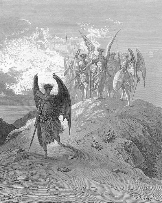 Nor mor but fled Murmuring and with him fled the shades of night. Gustave Dore