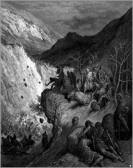 crusades surprised by turks. Gustave Dore