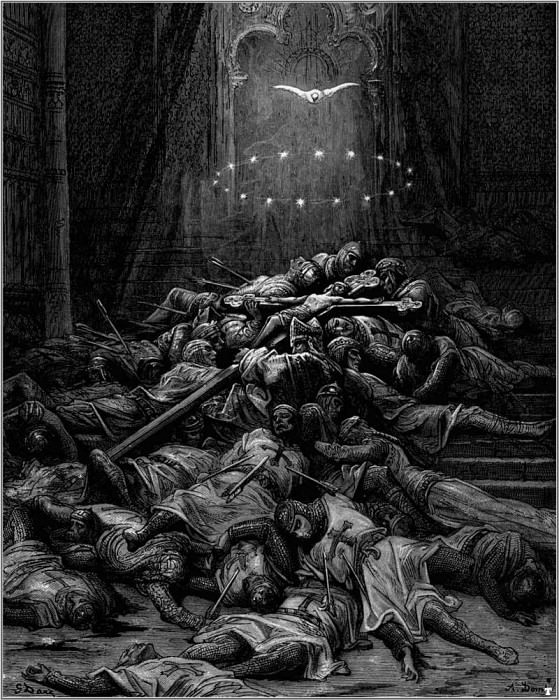 crusades celestial light. Gustave Dore