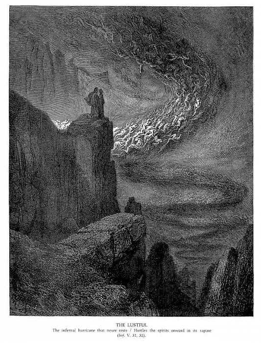 The Lustful. Gustave Dore