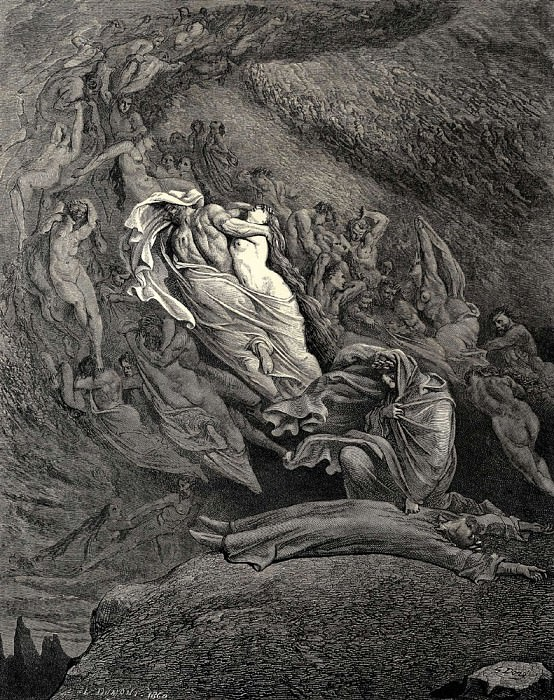 I through compassion fainting seem-d not far from death and like a corpse fell to the ground Canto. Gustave Dore