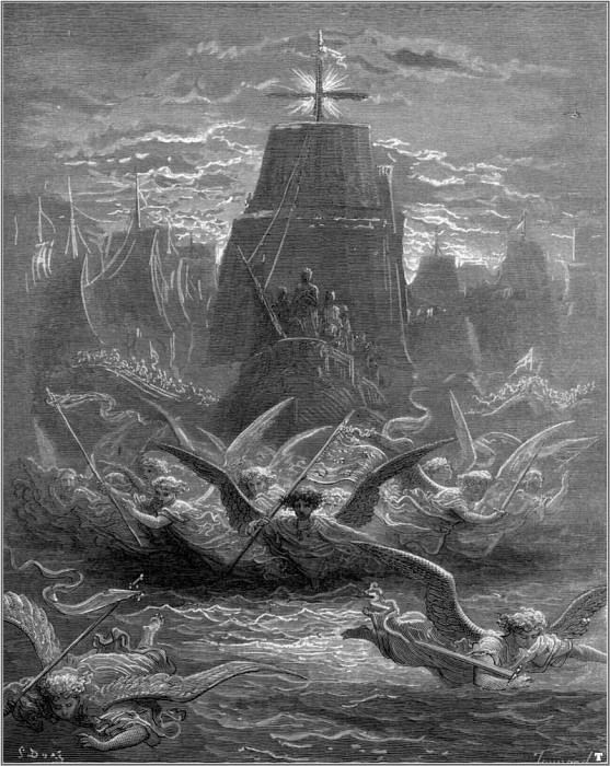 crusades departure from aigues mortes. Gustave Dore