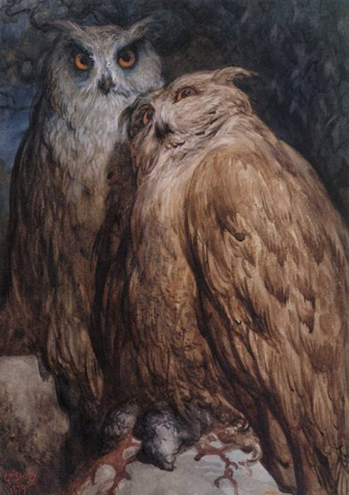 Two Owls. Gustave Dore