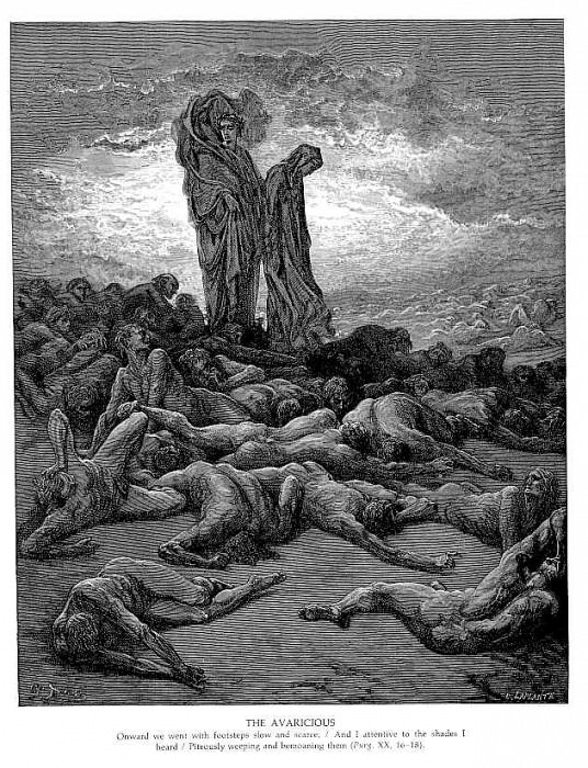 The Avaricious. Gustave Dore