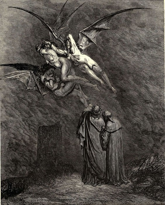 Here you see the bloodthirsty Erynnies- he said. Gustave Dore