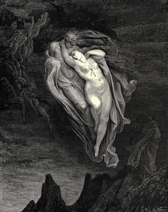 Bard willingly I would address those two together coming which seem so light before the wind. Gustave Dore