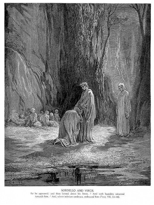 Sordello and Virgil. Gustave Dore
