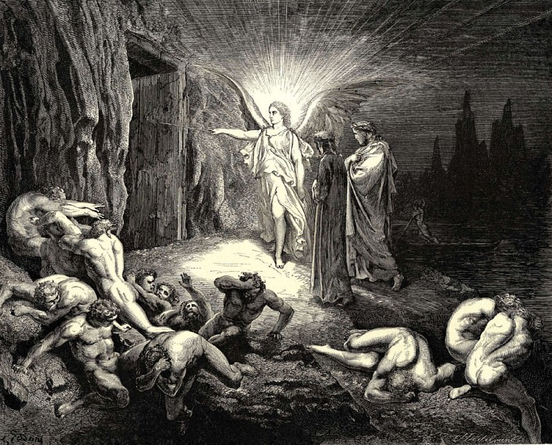 To the gate he came and with his wand touch-d it whereat open without impediment it flew. Gustave Dore