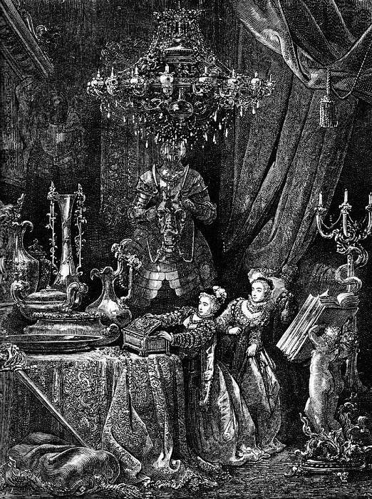 Her Friends Were Eager To See The Splendors Of Her House. Gustave Dore