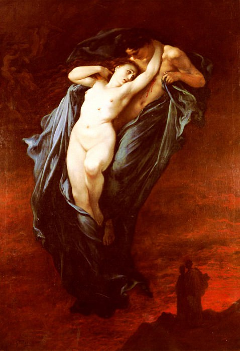 Dore Gustave Paolo And Francesca Da Rimini. Gustave Dore