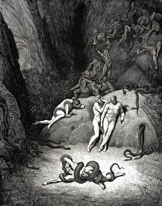The two others looked at him shouting -Agnel how terribly your appearance is changing-. Gustave Dore