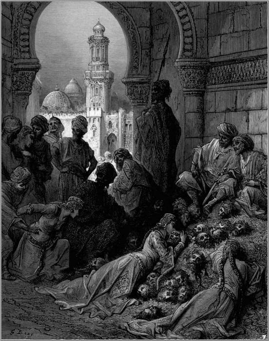 crusades cruelties of bibars. Gustave Dore