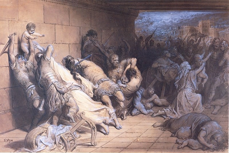 The Martyrdom of the Holy Innocents. Gustave Dore