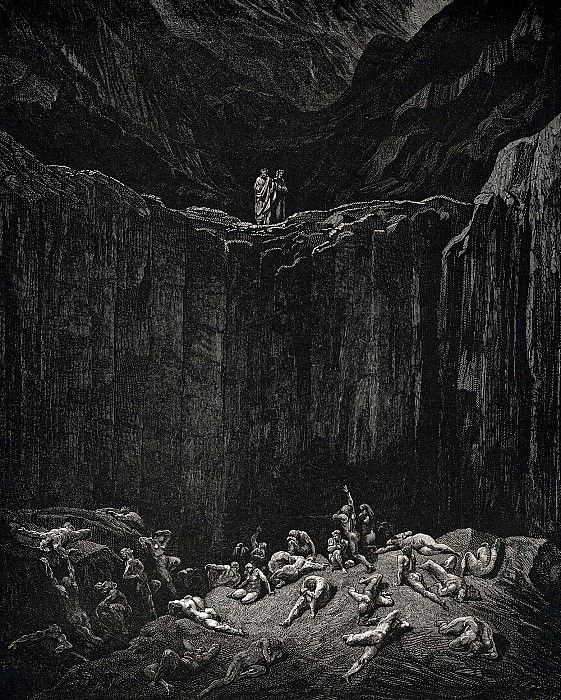 So my look went to a distance where the infallible justice of the minister of Go. Gustave Dore
