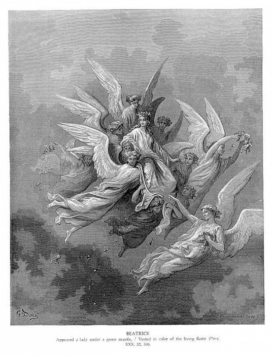 Beatrice. Gustave Dore