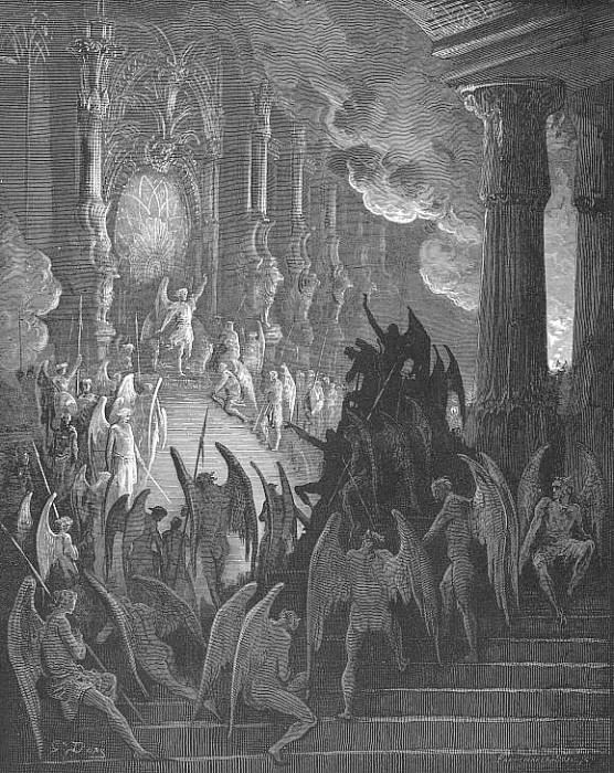 High on a throne of a royal state which far Outshone the wealth of Ormus and of Ind. Gustave Dore