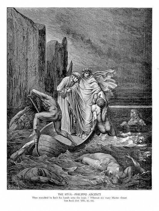 The Styx Philippo Argenti. Gustave Dore