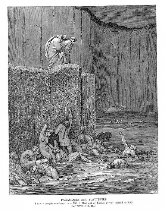 Paramours and Flatterers. Gustave Dore