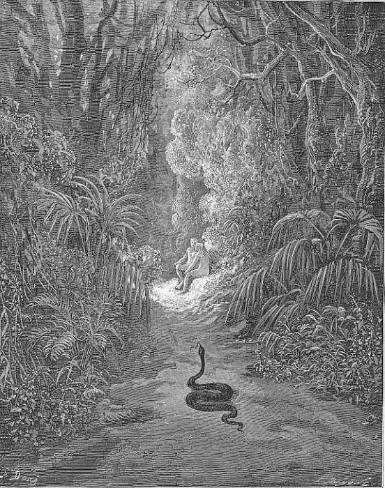 Nearer he drew and many a walk traversed Of statliest covert cedar pine or palm. Gustave Dore