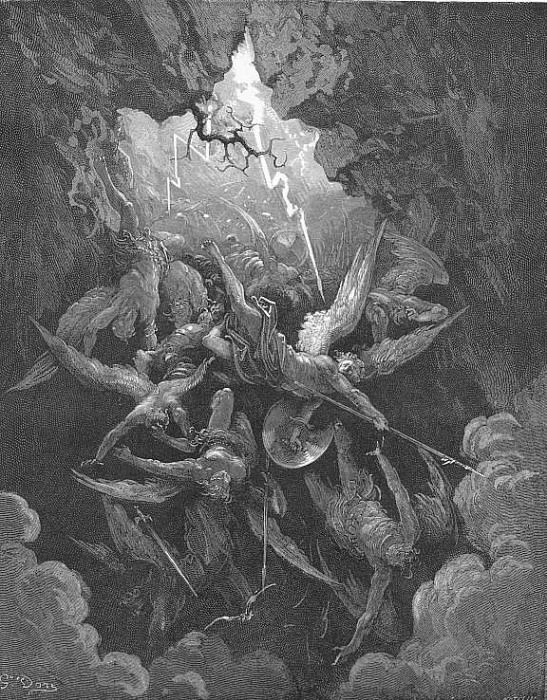 Hell at last Yawning received them whole. Gustave Dore