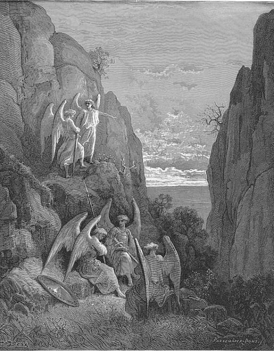 So promised he and Uriel to his charge. Gustave Dore