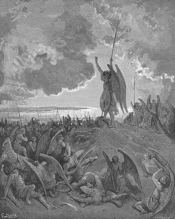 They heard and were abashed and up they sprung. Gustave Dore