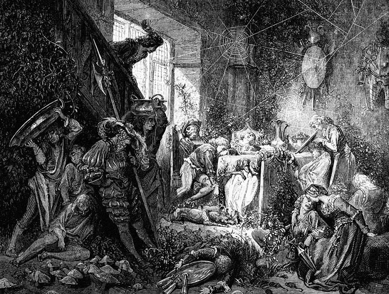 Mounting The Staircase HeEntered The Guardroom. Gustave Dore