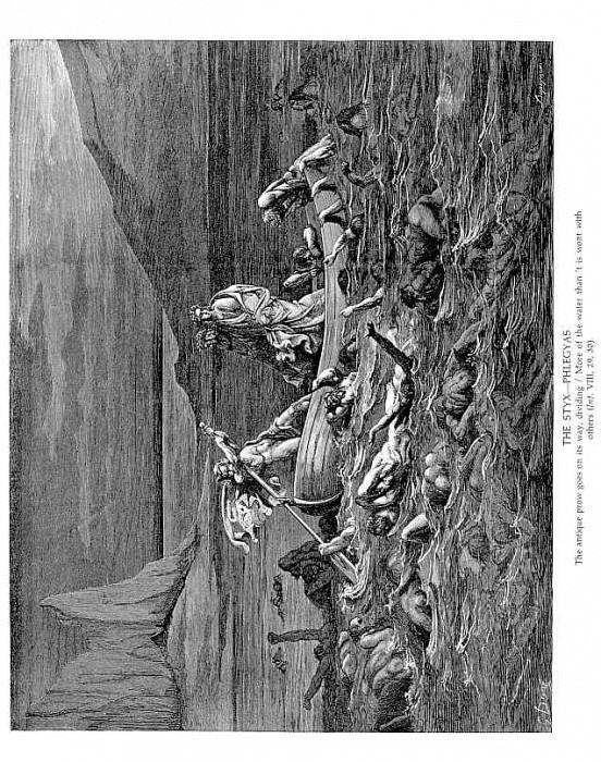 The Styx Phlegyas. Gustave Dore