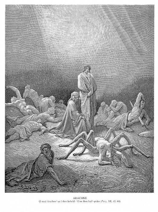 Arachne. Gustave Dore