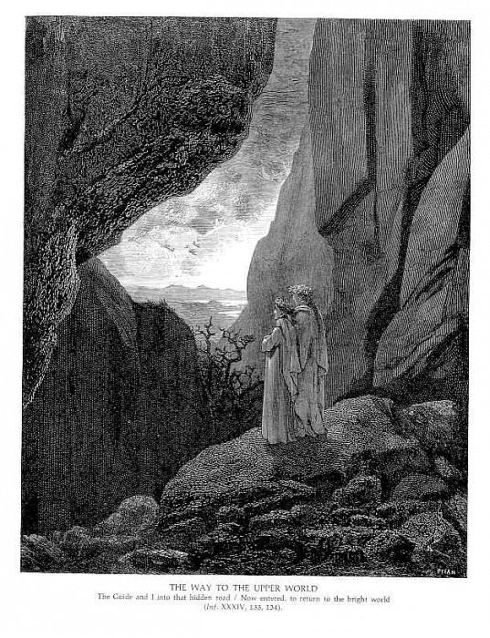 The Way to the Upper World. Gustave Dore
