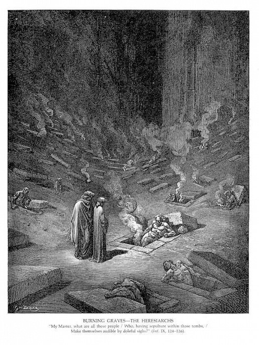 Burning Graves The Heresiarchs. Gustave Dore