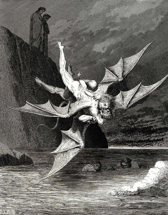 but the other prov-d A goshawk able to rend well his foe. Gustave Dore