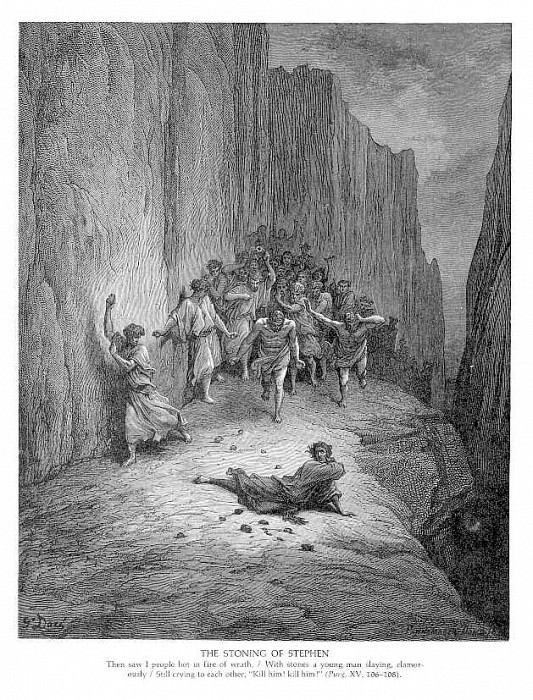 The Stoning of Stephen. Gustave Dore