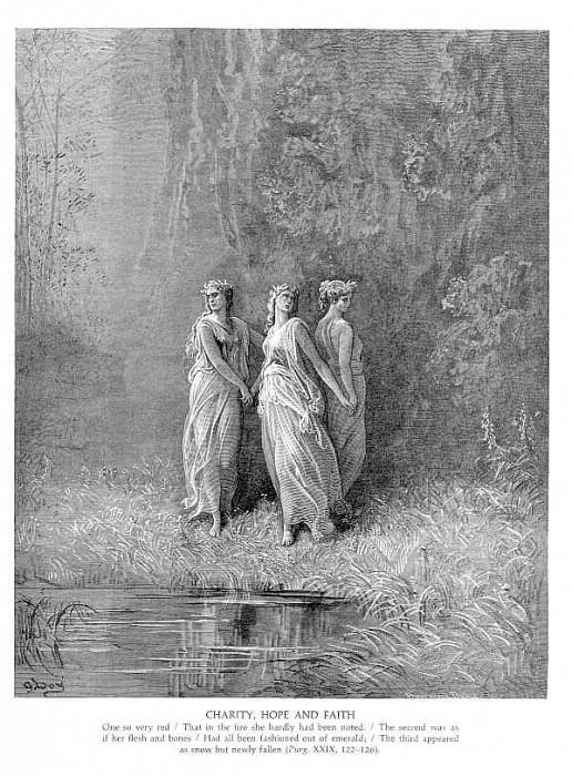 Милосердие, Надежда и Вера. Гюстав Доре