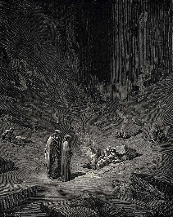 He answer thus return-d -The arch heretics are here accompanied by every sect the. Gustave Dore