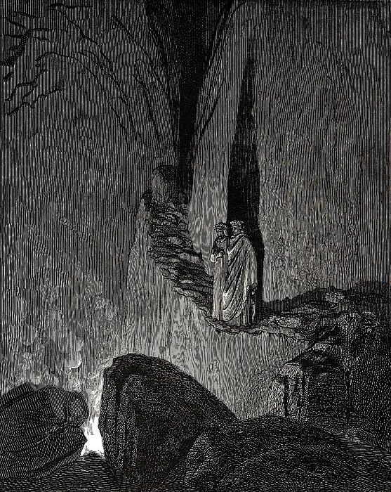 The master said -In this fire souls are burning and each soul is hardened by the fire-. Gustave Dore