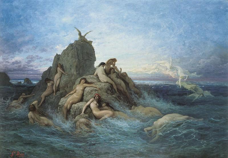 Les Oceanides Les Naiades de la mer. Gustave Dore