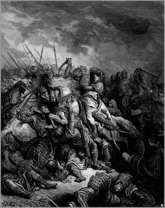 crusades richard and saladin at arsuf. Gustave Dore