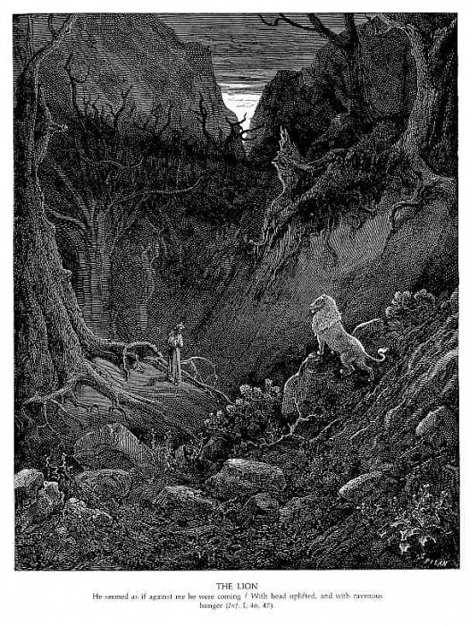 The Lion. Gustave Dore