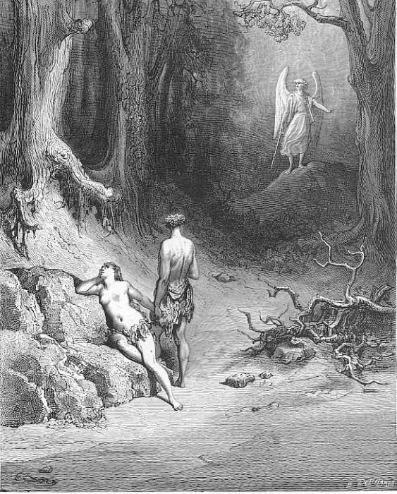 Some natural tears they dropt but wiped them soon. Gustave Dore