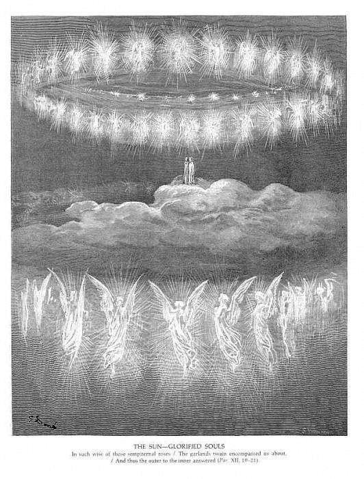 The Sun Glorifies Souls. Gustave Dore