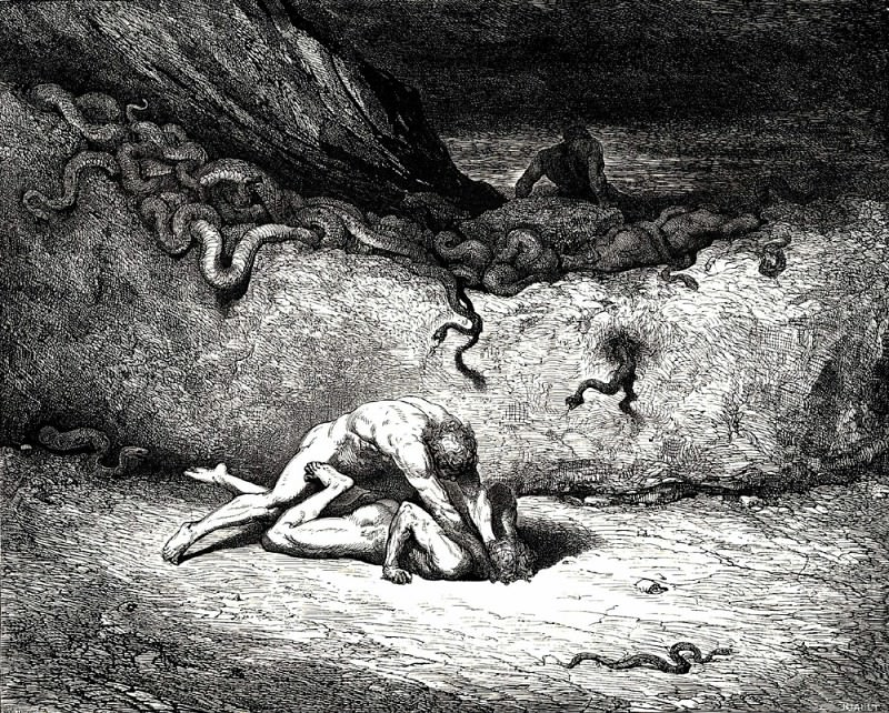 That sprite of air is Schicchi. Gustave Dore